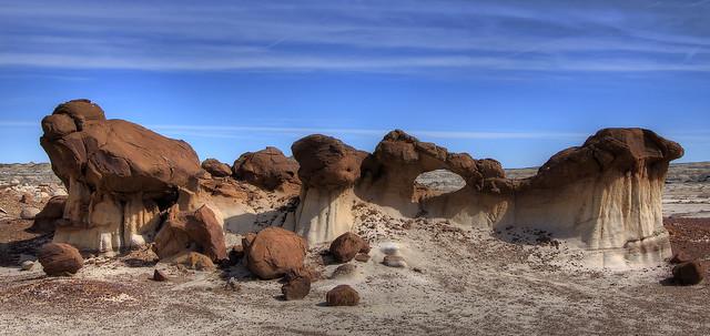 Las tierras baldías de Bisti / De-Na-Zin. Nuevo México. Estados Unidos