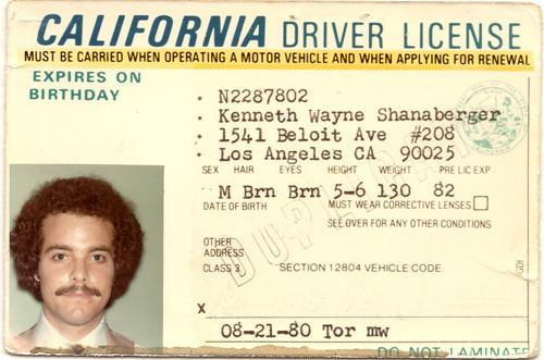 1980 Driver License
