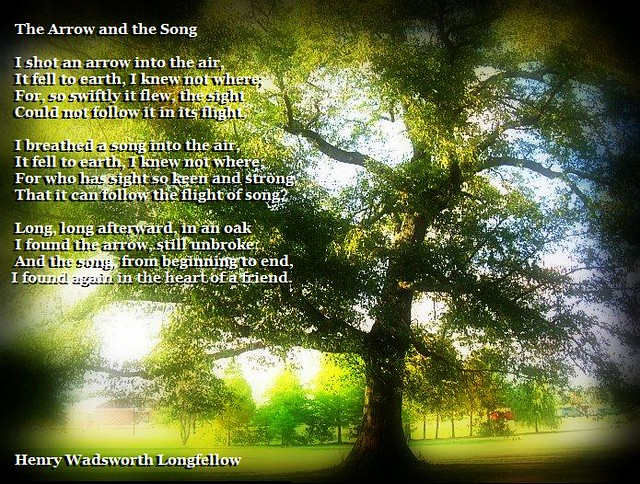 essay about henry wadsworth longfellows the arrow and the song