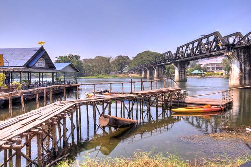 bridge thailand worldwarii hdr kanchanaburi riverkwai jeathwarmuseum deathrailway tonemapping thaiburmarailway hdraward