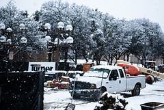 Snowy construction