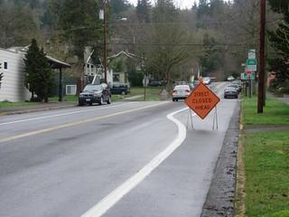 And Bike Lane Closed HERE!