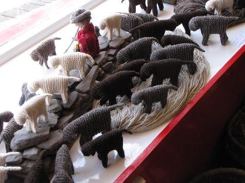 Crocheted Sheep for lighting