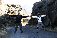 thingvellir: the american and european tectonic plates drift 2cm per years apart, here you can see the results
