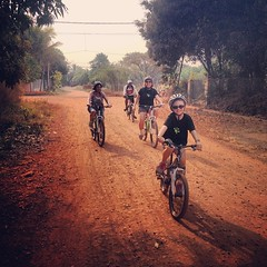 Very proud or #Ruby Tuesday today. Biked the whole 25km today on her own, leading the pack. @cpsillides #siemreap #love