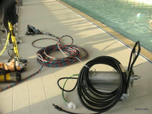 Vervangen van 24 volt motor onderwater