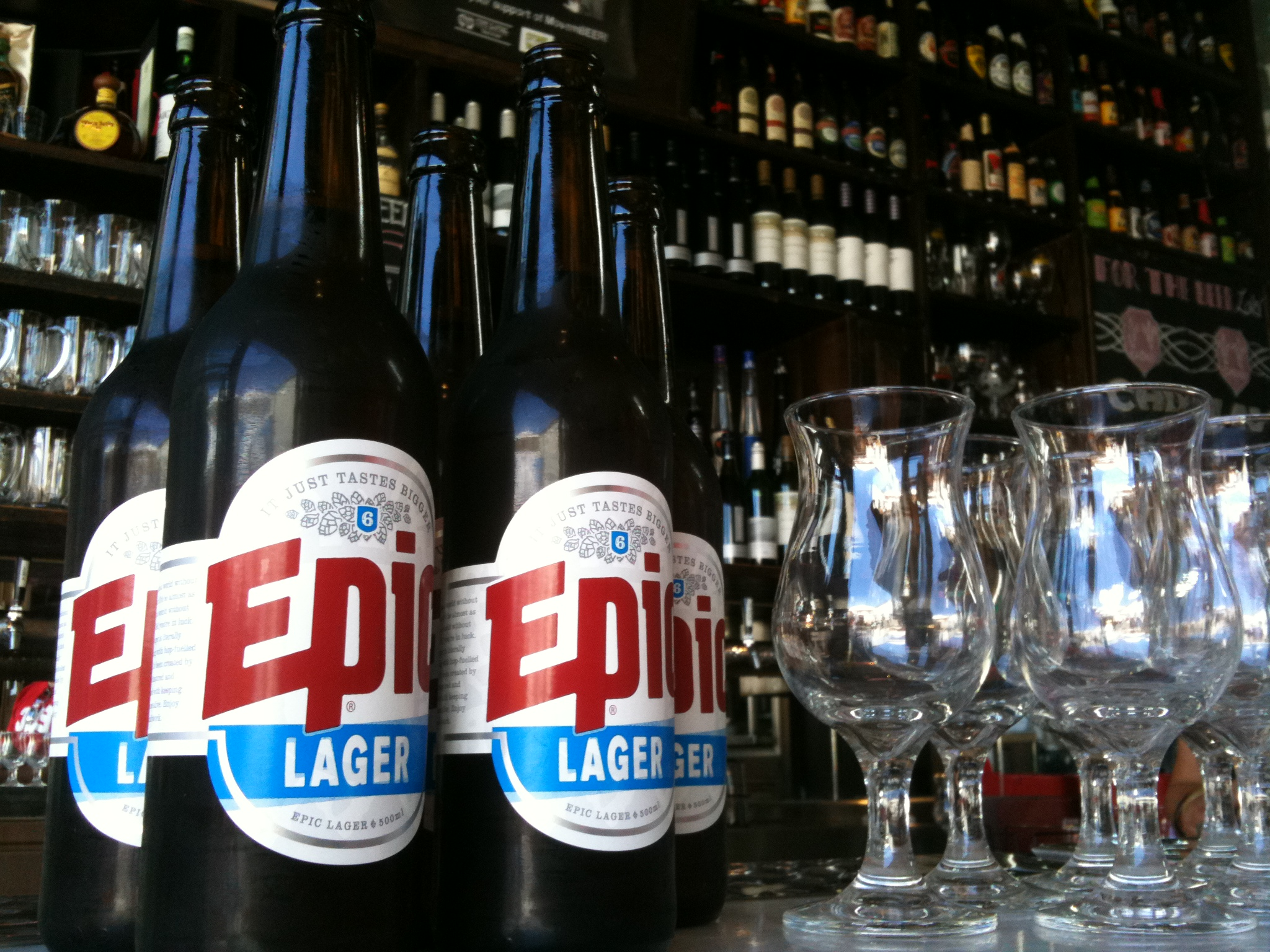 Epic Lager 500ml Bottle in Melbourne