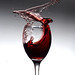 Wine Glass Splash series 1 of 3 by The philosopherالفيلسوف