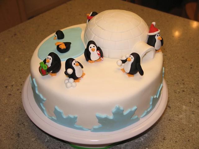 Christmas Cake Decoration Penguin : Penguin cake Flickr - Photo Sharing!