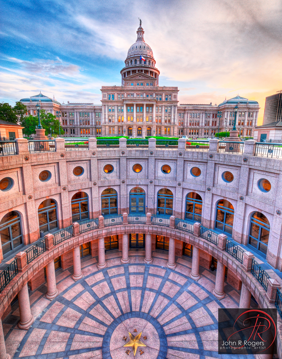 Texas Capitol Annex at Sunset