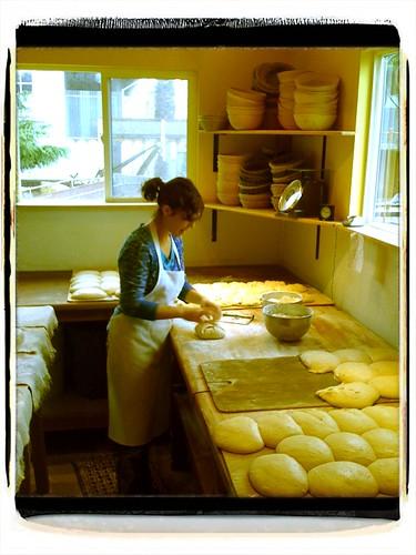 Celine in her bakery