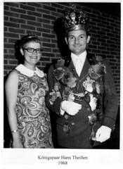 1968, Königspaar Jutta und Hans Theisen, SW108