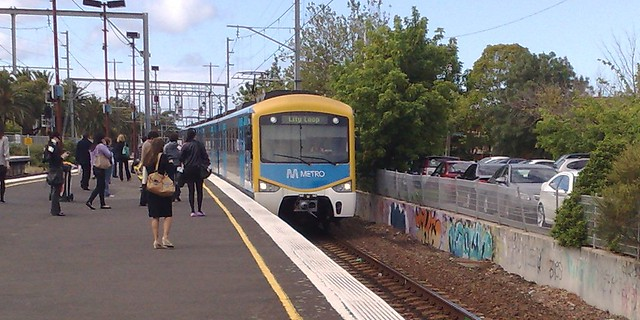 Siemens train at Glenhuntly