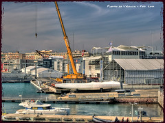Views of the port of Valencia