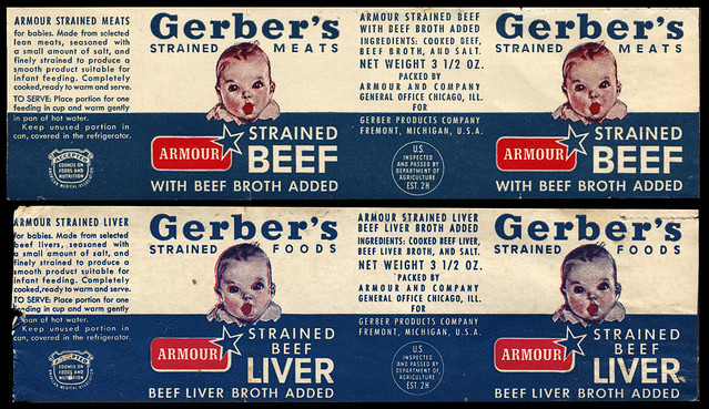 Gerber S Baby Food Strained Beef And Strained Beef Liver