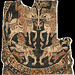 """Shroud of St Austremoine of Mozac, 8th or 10th-12thc, Lyons Textile Museum. Also known as the """"Tissu de Mozac"""""""