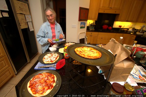 anna, multiplexes her pizza making operation