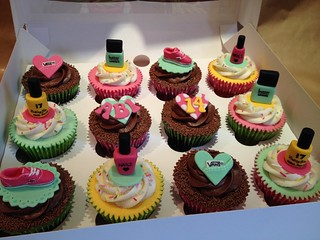 Selection of 14th Birthday Cupcakes