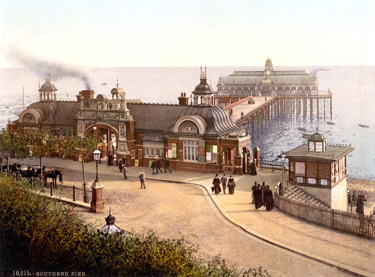 Southend-on-Sea Pier, England, 1895