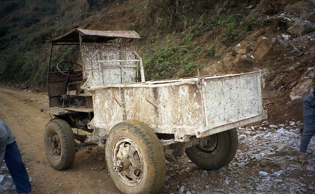 Work truck back side near SaPa Vietnam