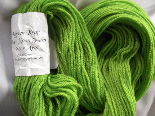 Sliver Moon Yarn: green merino
