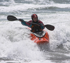 canoe slalom(0.0), canoeing(0.0), bodyboarding(0.0), vehicle(1.0), sports(1.0), sea(1.0), rapid(1.0), kayak(1.0), surf kayaking(1.0), boating(1.0), wind wave(1.0), extreme sport(1.0), water sport(1.0), kayaking(1.0), whitewater kayaking(1.0), watercraft(1.0), sea kayak(1.0), boat(1.0), paddle(1.0),