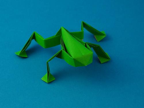 origami frosch. Black Bedroom Furniture Sets. Home Design Ideas
