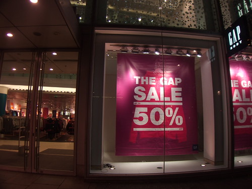 After closing time on Christmas Eve stores get ready for Boxing Day sale