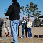 Randy Lahm shows the value of a straight putt at the Skills Clinic, February 26th, at Expo Park