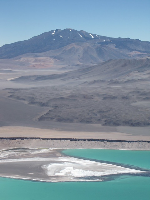 Laguna Verde while going down Mulas Muertas