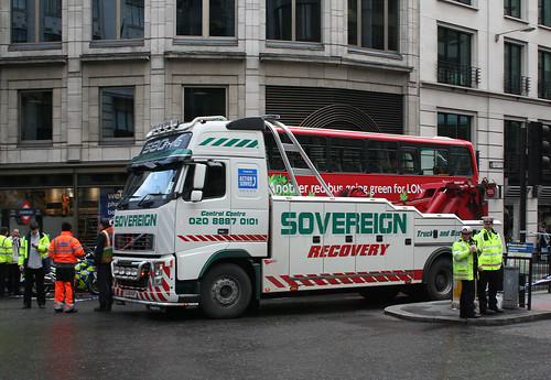 Sovereign recovery truck at Monument