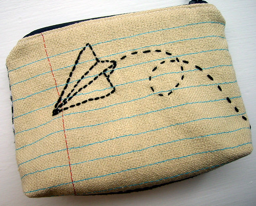paper airplane pouch
