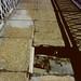 Hole in Manhattan Bridge walkway  (1980) by stevensiegel260