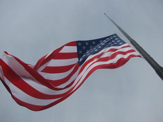 l e d light install above 60 39 x 80 39 american flag at glenbrook dodge fort wayne ind flickr. Black Bedroom Furniture Sets. Home Design Ideas