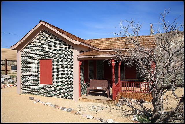 Bottle house rhyolite flickr photo sharing for Casa de jardin mobile home park