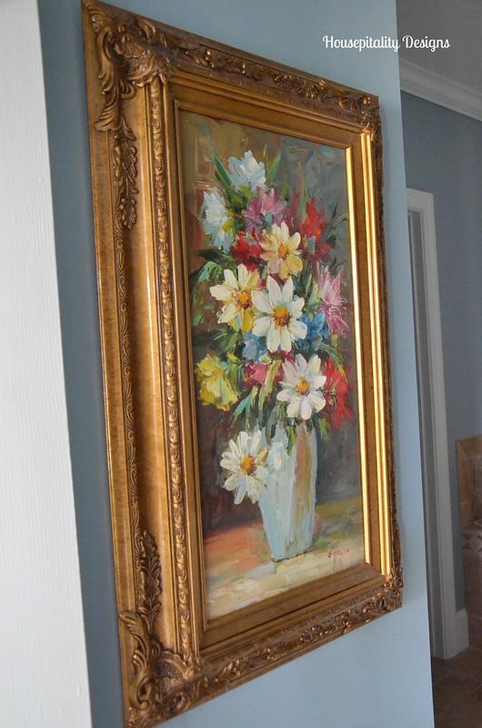 Guest bath floral painting