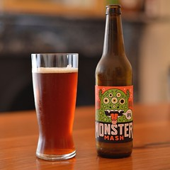 #supportyourlocalbrewery The very tasty and wonderfully alcoholic #monstermash #doubleipa - floral and #hoppy #ipa #50mm #nikon #d800 #beer #beerporn #52beersin52weeks #hops