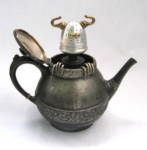 Teabob - Found Object Robot Assemblage Sculpture