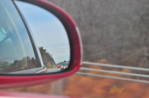 ny newyork vw mirror kent highway view traffic rear beetle freeway interstate expressway i84 84 putnamcounty interstate84