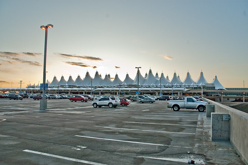 Sunset over DIA