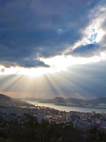 city panorama reflection history japan lights nikon ray shine view beam nagasaki kyushu 九州 景色 長崎 パノラマ milliondollarviews mywinners a7design