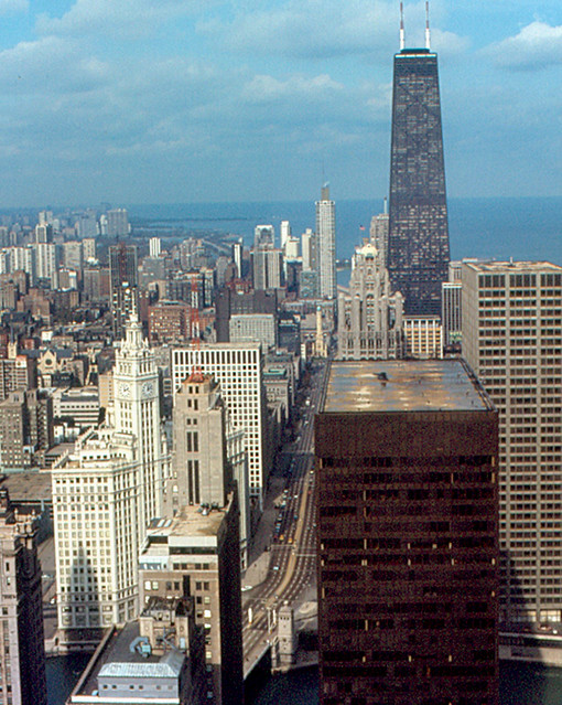 Chicago - John Hancock Center from Prudential Building (1970)
