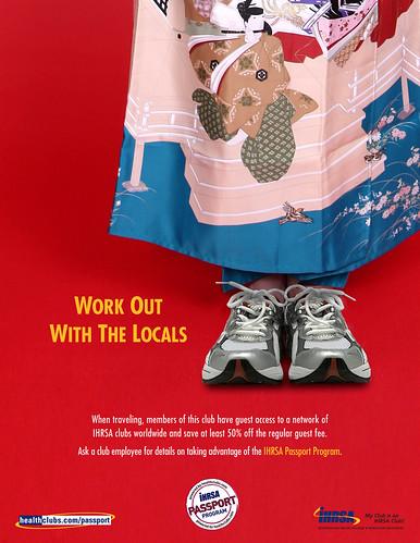 Worldwide gym membership print ad
