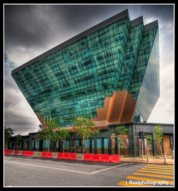 Glass Trapezium or Trapezoid Building...in HDR (Energy ...