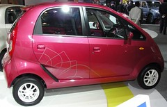 automobile, vehicle, subcompact car, tata nano, city car, land vehicle, hatchback,
