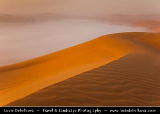 United Arab Emirates - Valley of Fog in the Liwa Oasis in Empty Quarter Desert - Rub Al Khali