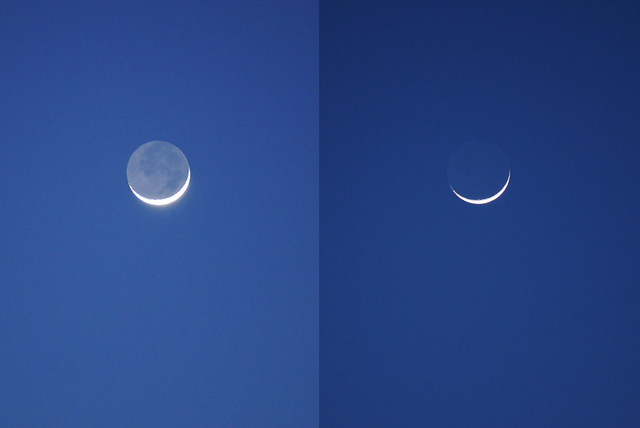 Crescent moon, 17 Mar 2010