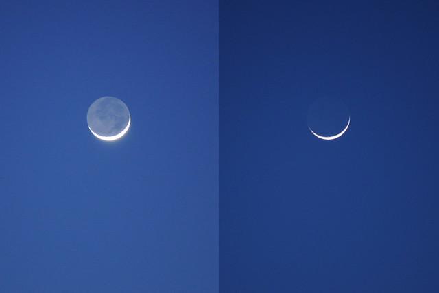 Crescent moon, 17 Mar 2010