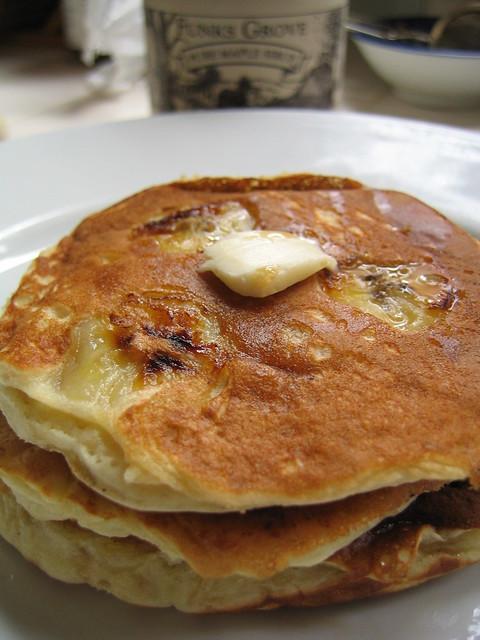 banana buttermilk pancakes | Flickr - Photo Sharing!