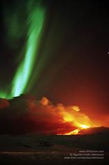 Aurora borealis and Mt. Hekla eruption NLG_8_NG